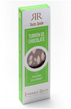 Turrón de Chocolate y almendras Mini-gourmet 100 g envase