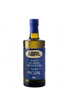 Aceite Abril Oliva Virgen Extra Picual 500cc Caja 6 botellas envase