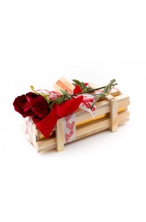 Bombones Gourmet Love Edition Caja Madera 500g caja con lazo