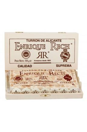 Turrón de Alicante Caja Madera 300g embalaje caja