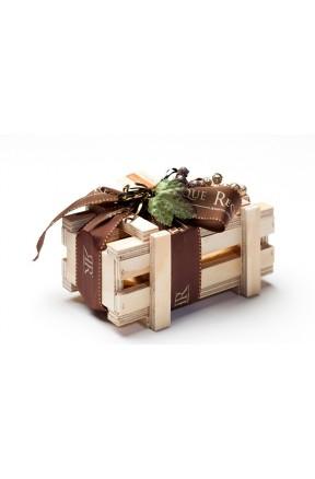 Bombones Gourmet Madera 250g caja con lazo