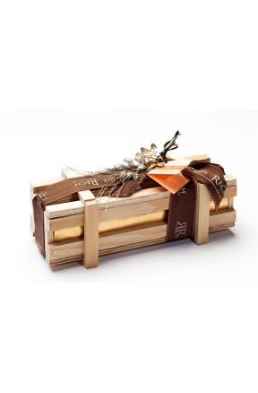 Bombones Gourmet Caja Madera 500g caja con lazo