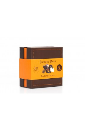Bombones Gourmet 9 unidades (100g) caja con faja