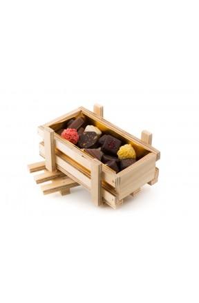 Bombones Gourmet Edición Especial Día Del Padre Caja Madera 250g sugerencia de presentación