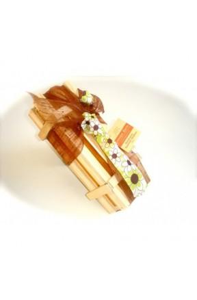 Bombones Gourmet Papi's Edition Caja Madera 500g caja con corbata de flores