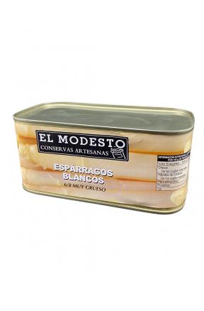 Espárragos Blancos El Modesto 6/8 660g envase lata