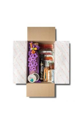 Pack Ibéricos Gourmet Día de la Madre en color violeta envasado