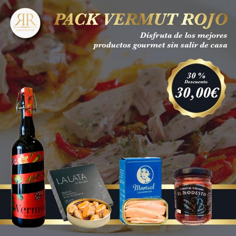 Pack Vermut Rojo flyer promoción